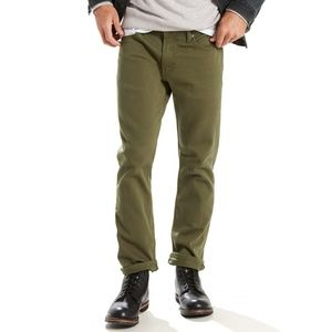 Levi's 511 Skinny Olive Green Chinos 30 x 36